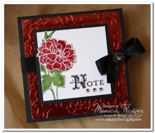 Fabulous Florets Embossed Metal Post-It Note Holder