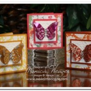 Beyond the Garden Embossed Metal Sheet Mini Note Cards