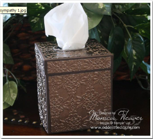 Vintage Wallpaper Embossed Metal Tissue Box