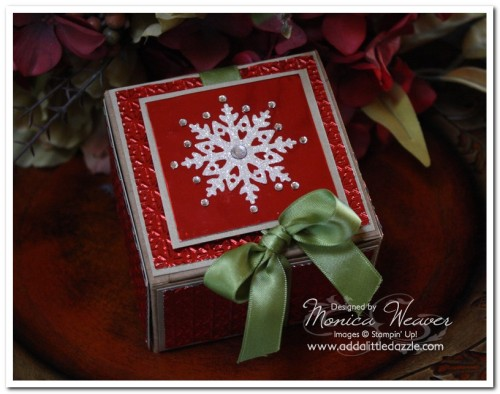 Northern Frost Embossed Metal Kraft Gift Box