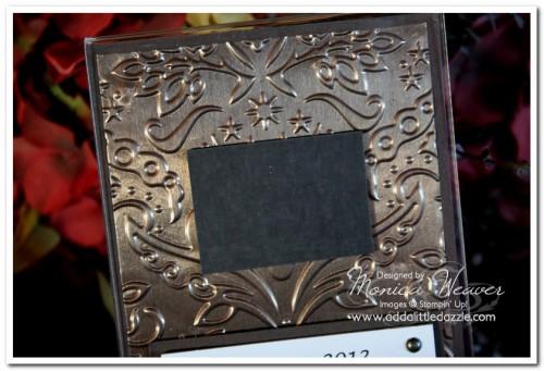 2012 Embossed Metal Desktop Photo Calendar