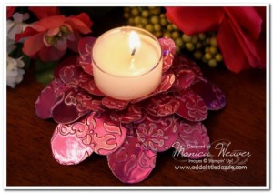Flower Folds Die: Embossed Metal Tea Light Holder