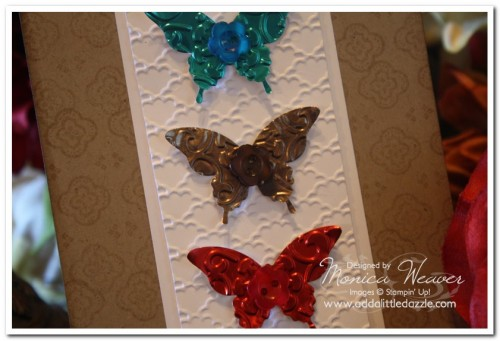 ELEGANT BUTTERFLY METAL EMBOSSED CARD