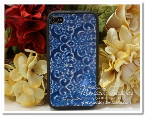 Lacy Brocade Craft Metal Embossed iPhone Skins