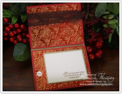 Boughs and Bells Metal Embossed Card