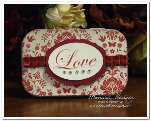 I {LOVE} LOVE ALTOID TIN MINI SCRAPBOOK ALBUM