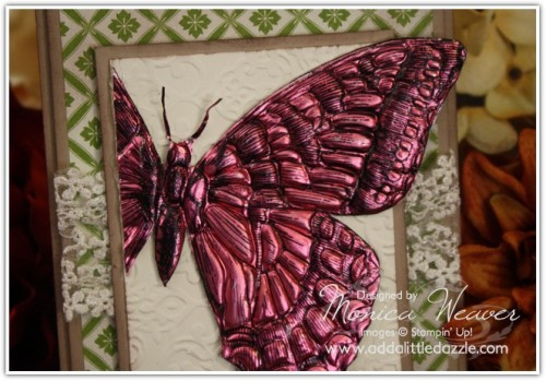 All Ocassions Card Swallowtail Stamp (closeup)