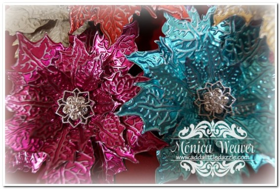 DIY Christmas Poinsettias Using Craft Metal Sheets