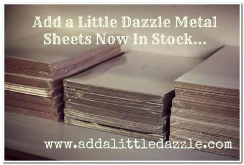 Big Reveal New Craft Metal Sheets Add A Little Dazzle