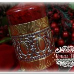 Homemade Gifts: Metal Embossed Candles