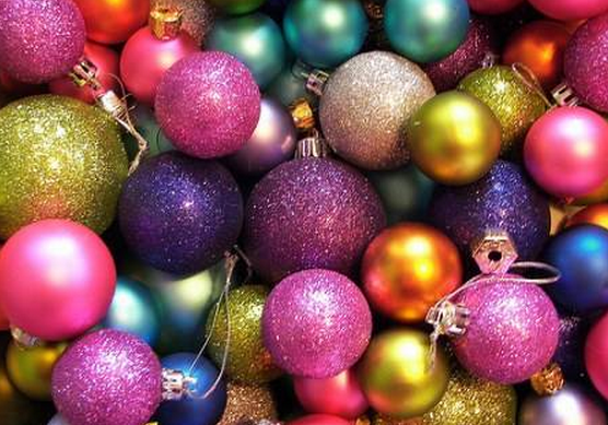 diy christmas ornaments in non traditional colors add a little dazzle