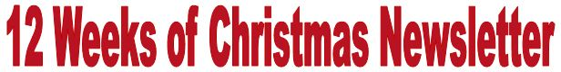 12 weeks of christmas newsletter