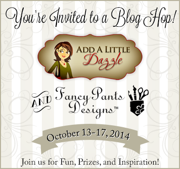 FANCY PANTS AND ADD A LITTLE DAZZLE BLOG HOP BANNER