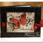 Baroque Motifs Embossed Metal Butterfly Card