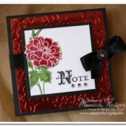 Fabulous Florets Embossed Metal Post-It Note Holder