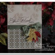 Hand-Penned Embossed Metal Sheet Thanksgiving Card