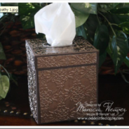 Vintage Wallpaper Embossed Metal Tissue Box Cover